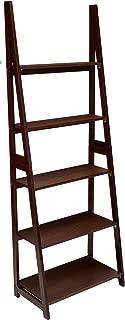 espresso ladder bookcase