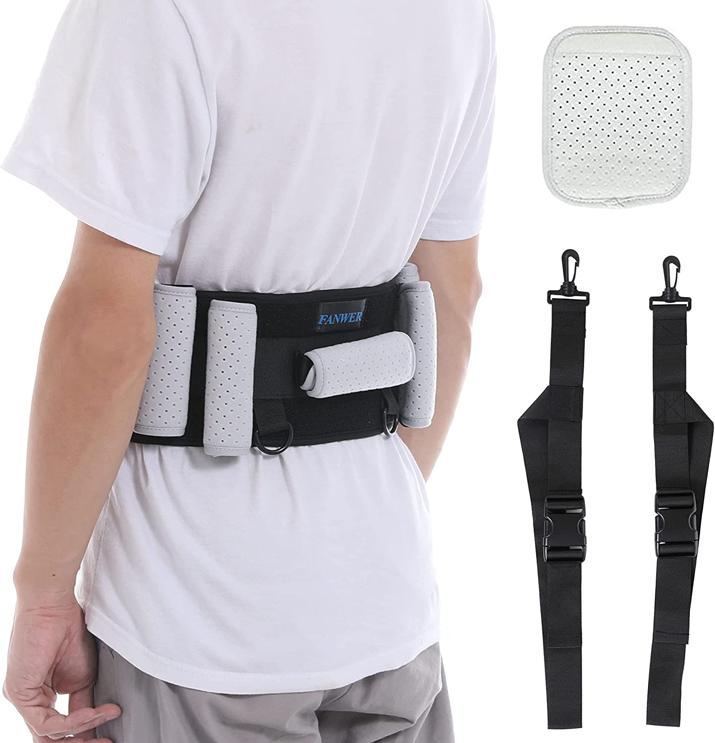 Gait safety Belt Transfer Belts Handle(27-39inch@with Topics on TV Padding