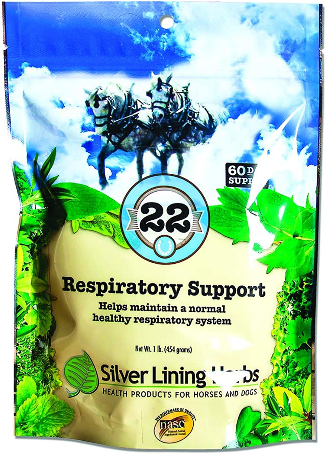 Respiratory Support  for Horses   Supports Normal Function Of The Lungs   Assists Horses Body In Combating Environmental Pollutants  Helps Keep Airways Clear  Made In The USA by Silver Lining Herbs  From Natural Herbs