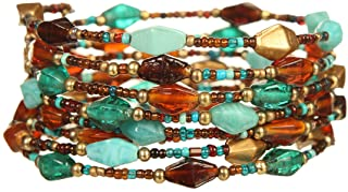 DCA Glass/Steel Multicolor Women Bangle/Bracelet (1115)
