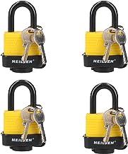 4 Keyed Alike 40mm Water Resistant Waterproof Padlocks 4 Locks 8 Keys Security