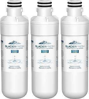 GLACIER FRESH LT1000P Refrigerator Water Filter, Compatible with LG LT1000P, LT1000PC, LT1000PCS, MDJ64844601, ADQ747935, Kenmore 9980 Water Filter, 3 Pack