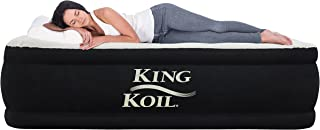 King Koil Queen Air Mattress with Built-in Pump - Best Inflatable Airbed Queen Size - Elevated Raised Air Mattress Quilt T...
