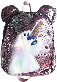 Aupalla Kids Unicorn Backpack Bag School Bag Casual Daypacks (Pink)