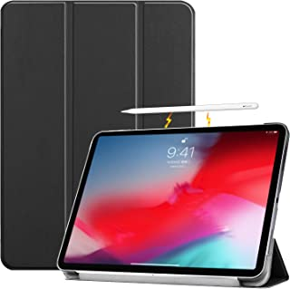 Newzerol For iPad Pro 11 2018 ケース 超薄型 耐衝撃 傷防止 3つ折りスタンド Apple Pencilにワイヤレス充電対応 タブレットカバー オートスリープ機能 2018 iPad Pro 11インチ 用 保護ケース(ブラック)