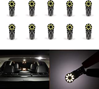 10 Pcs Super Bright 6000K White 3014 SMD 12V W5W T10 LED 194 W5W 168 2825 175 161 921 W5WLL W10W License Plate,Interior,Map,Dome,Trunk,Parking Light Lamp Bulbs