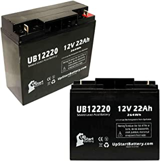 2 Pack Replacement for Pride Gogo Elite Traveler Plus Battery - Replacement UB12220 Universal Sealed Lead Acid Battery (12V, 22Ah, 22000mAh, T4 Terminal, AGM, SLA)