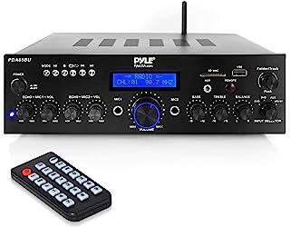 Wireless Bluetooth Power Amplifier System - 200W Dual Channel Sound Audio Stereo Receiver w/ USB, AUX, MIC IN w/ Echo, Rad...