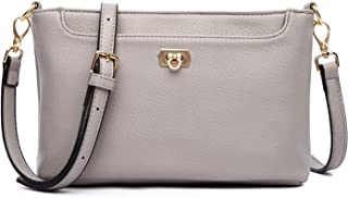 Crossbody Bags for Women, Small Shoulder Purses and Handbags PU Leather Satchel Cellphone Wallet with 2 Detachable Straps
