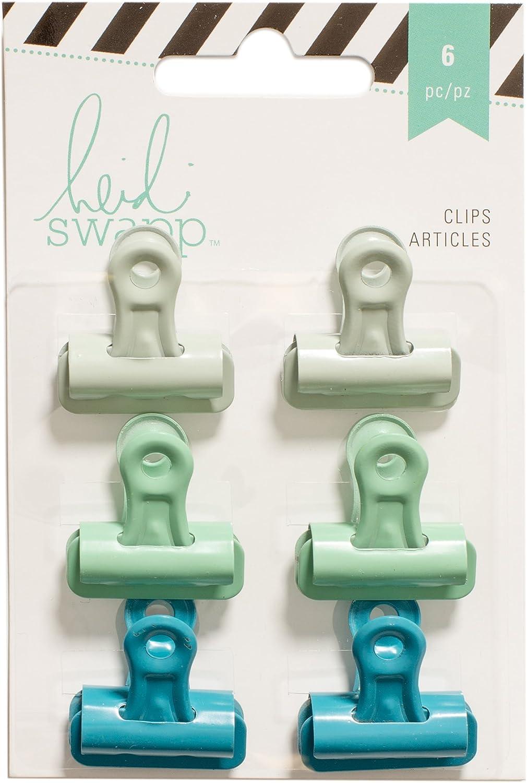 American Crafts Heidi Swapp Bulldog 6 Challenge the lowest price Piece Philadelphia Mall Greens Clips