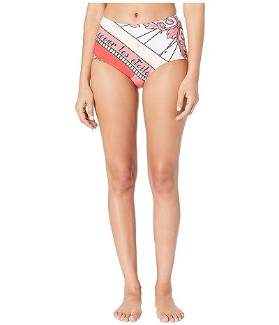 Tory Burch Swimwear Constellation High-Waisted Bikini Bottoms (Pink Constellation) Women