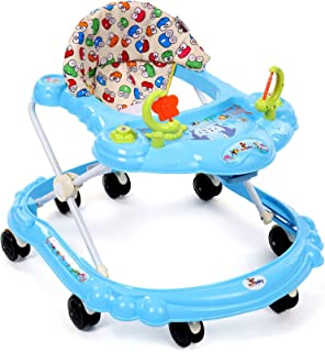 Sunbaby Baby Walker (Red) w/ Kids Activity Rattle Toys For Babies Cycle, Adjustable Height, thick, safe & comfortable Sea...