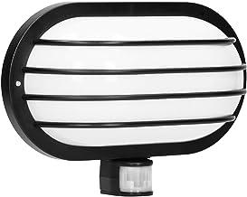 Orno Solano E27 Buitenlamp met Bewegingsmelder tot 60W IP44 Waterdicht (Gloeilamp Apart aan te Schaffen) (Zwart)