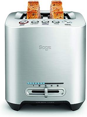 Sage BTA825UK the Smart Toaster 2 Slice Motorised Toaster - Silver