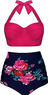 Best Women Vintage Polka Dot High Waisted Bathing Suits Bikini Set Review