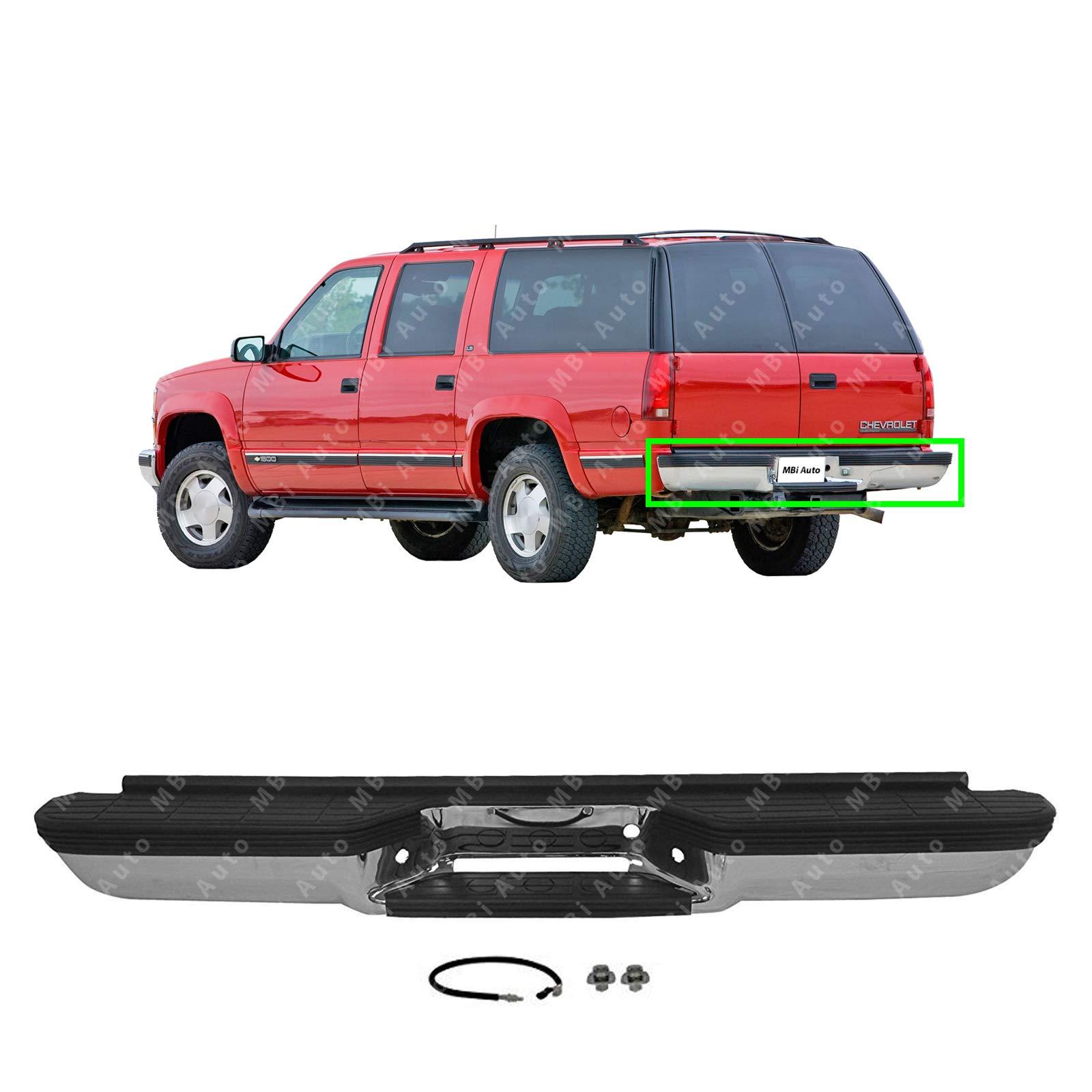00 chevy suburban amazon com 00 06 Yukon Wheels mbi auto chrome, steel rear bumper direct fit for 1992 2000 chevy suburban