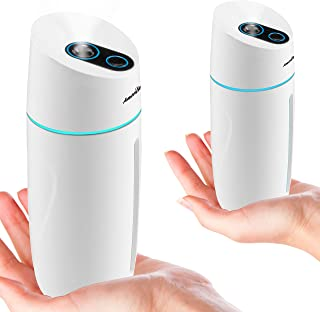 AmeriLuck 2-Pack Portable Mini Humidifier for Travel, Cute Desktop Cool Mist Sprayer for Small Room or Office, with Breath...