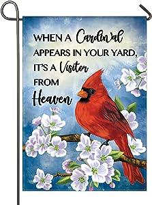 Garden Flag Cardinal Red Bird Outdoor Yard Flags for Garden Decor Double Sided 12.5X18 Inch (02-cardinal)