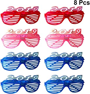 ad02d5c290 Amosfun 8pcs 2019 Año LED Light Up Glasses Gafas de Sol emisoras de luz  Gafas de