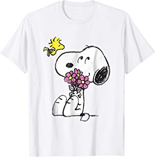Snoopy mother's love flowers Long Sleeve T-shirt