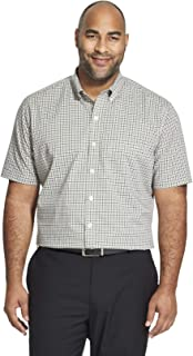 ff0014febca2d Van Heusen Mens Flex Stretch Short Sleeve Non Iron Shirt Button Down Shirt