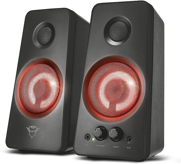 Casse pc trust gaming gxt 608 set di altoparlanti con gradevole illuminazione led 21202