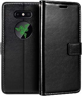 Razer Phone 2 plånboksfodral, premium PU-läder magnetiskt flippfodral med korthållare och ställ för Razer Phone 2