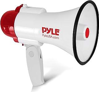Pyle Megaphone Speaker Lightweight Bullhorn – Built-in Siren, Adjustable Volume..
