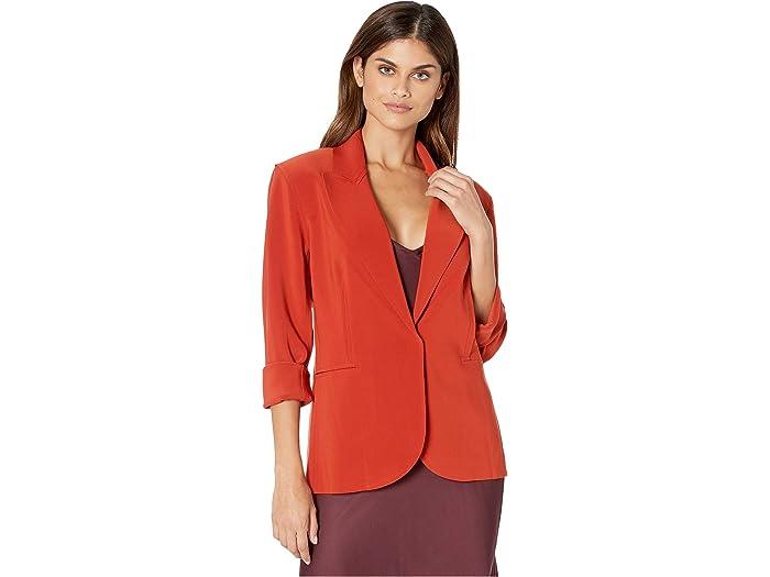 Norma Kamali Womens Single Breasted Jacket Bu