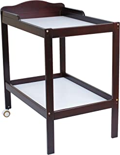 Babyworth BW02 Change Table with 2 Tiers Levels for Baby Infant Changing Diaper Nappy (Walnut)