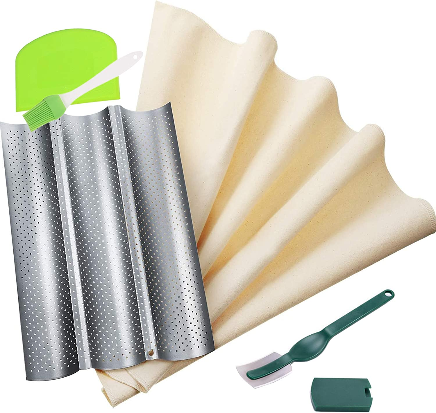French Bread Baguette Pans Selling and selling Bagu Perforated Baking,Nonstick for Phoenix Mall