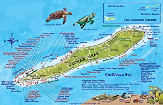 Cayman Brac Island Dive Map & Reef Creatures Guide Franko Maps Laminated Fish Card