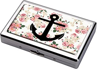 Anchor Wallpaper Tumblr Cigarette Case Business Card Holder Stainless Steel Case Silver Metal Wallet Protection