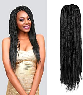MULTI PACK DEALS! Authentic Synthetic Hair Crochet Braid Pre-Stretched Loop Senegalese Twist Braid 22