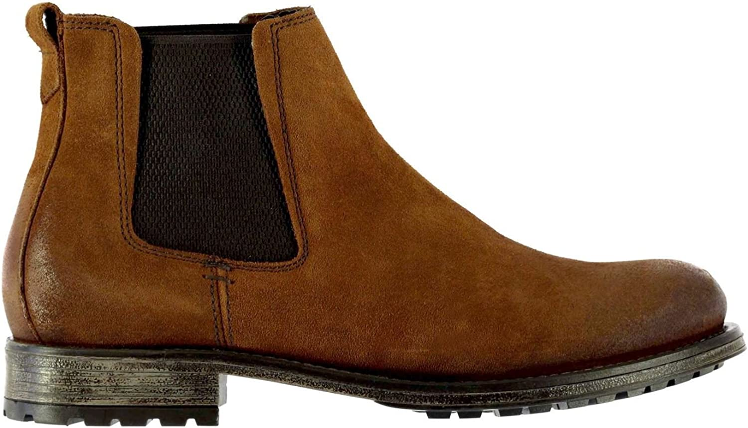 Firetrap Men Hex SD Chelsea Boots shoes Distressed Ankle High Elasticated Panels