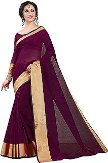 Gauri Laxmi Enterprise Women's Venkatgiri Cotton Silk Saree With Un-stitched Blouse