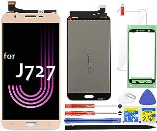 شاشة LCD بديلة لهاتف Samsung Galaxy J7 J727 5.5 بوصة (ذهبي) مجموعة عرض رقمية باللمس 2017 Prime Halo SM-J727 J727P J727U J7...