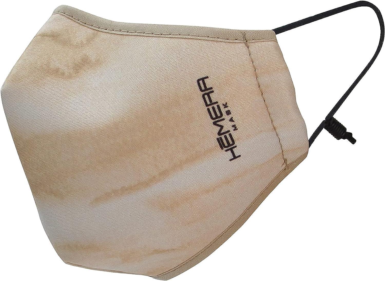 Hemera Mascarillas reutilizables homologadas (Pack de 3) | Certificado UNE 0065 | Máxima protección y respirabilidad | 20 lavados homologados