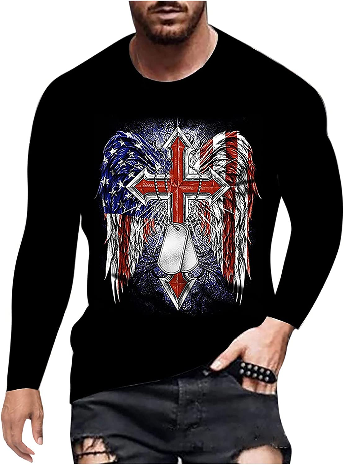 Men's Quick Dry Sweat-Wicking Casual Soft Long Sleeve Fashion Henley Shirt, Classic Fit T-Shirt for Workout