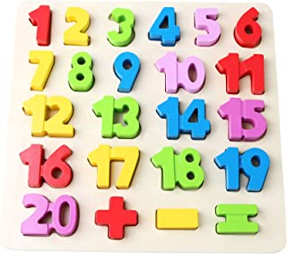 Babe Rock Wooden Number Puzzles for Toddlers 2-3 Years Old Boy Girl Learning Toys 23 Pieces
