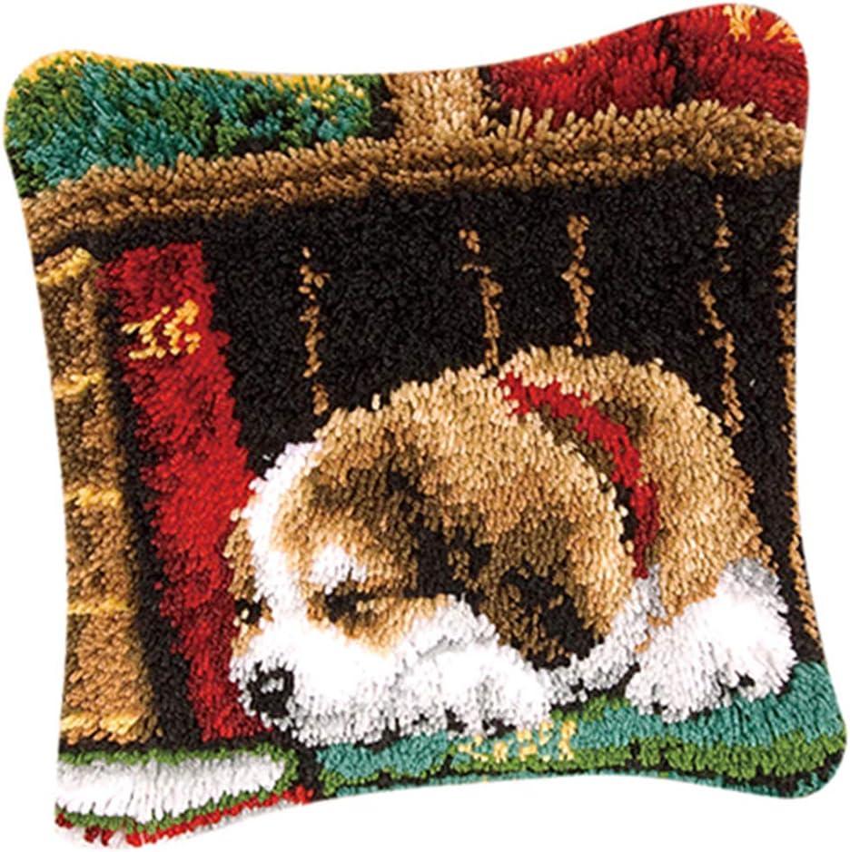 freneci Kn/üpfkissen zum selber kn/üpfen f/ür Erwachsene und Kinder Muster zum Auswahl Kn/üpfpackung Kn/üpfset Kissen 43x43cm Bell-Hund