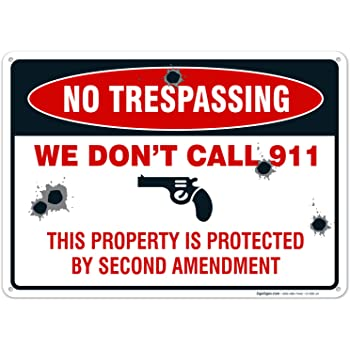 WARNING WE DO NOT DIAL 911 SIGN 9 X 12