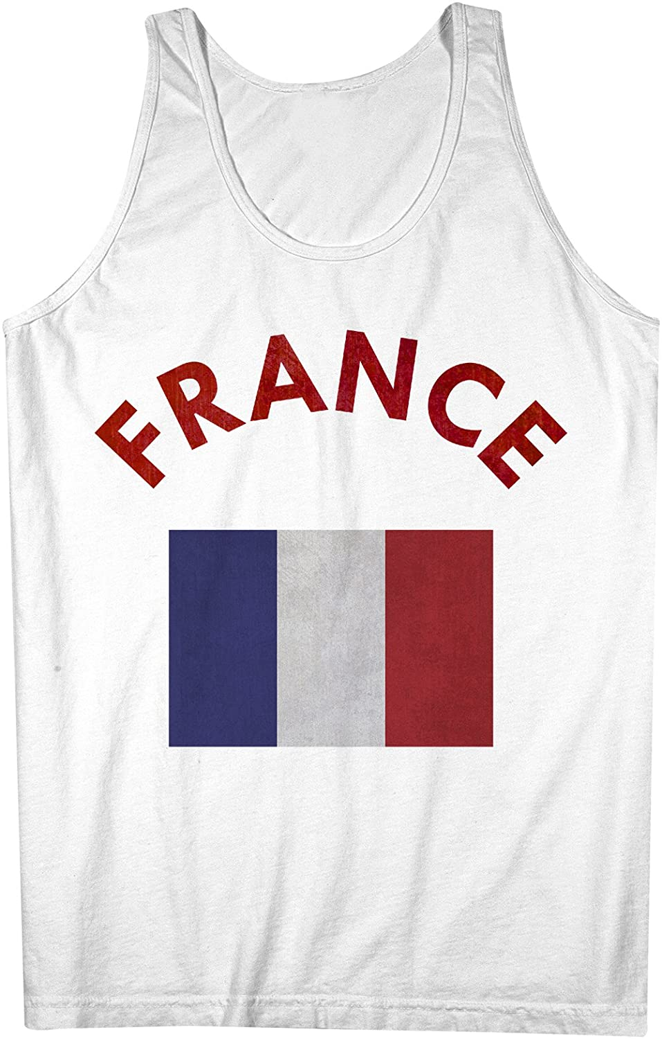 France French Flag 男性用 Tank Top Sleeveless Shirt
