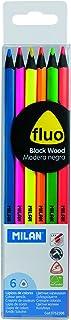 Milan 0752306 - Pack de 6 lápices de madera, color negro