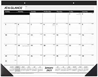 "2021 Desk Calendar by AT-A-GLANCE, Monthly Desk Pad, 21-3/4"" x 17"", Standard, Ruled Blocks (SK240021)"