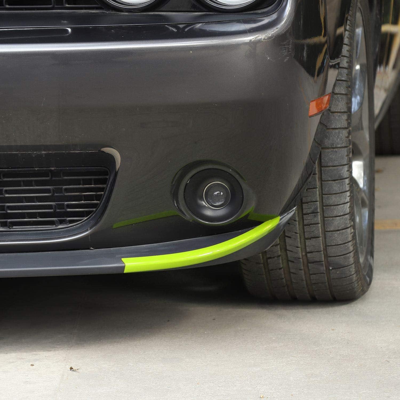 Voodonala for Challenger Front Deflector Shovels Spoiler Bumper Lip Decals for 2015-2020 Dodge Challenger ABS Orange 2pcs