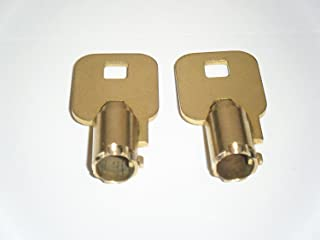 2 Craftsman - Gladiator GarageWorks Toolbox Lock Keys Code Cut F21 Tool Box Keys Tubular Keys ((Please note you need to push in on key when turning))