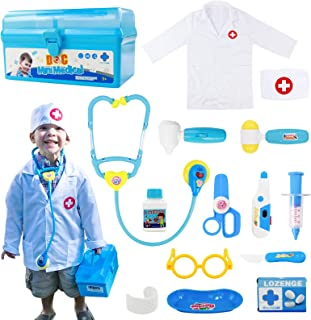 Fajiabao Doctor Kits for Kids Medical Set Toys Doctor Coat Indoor Family Games Dress Up Costume Role Pretend Play Easter G...