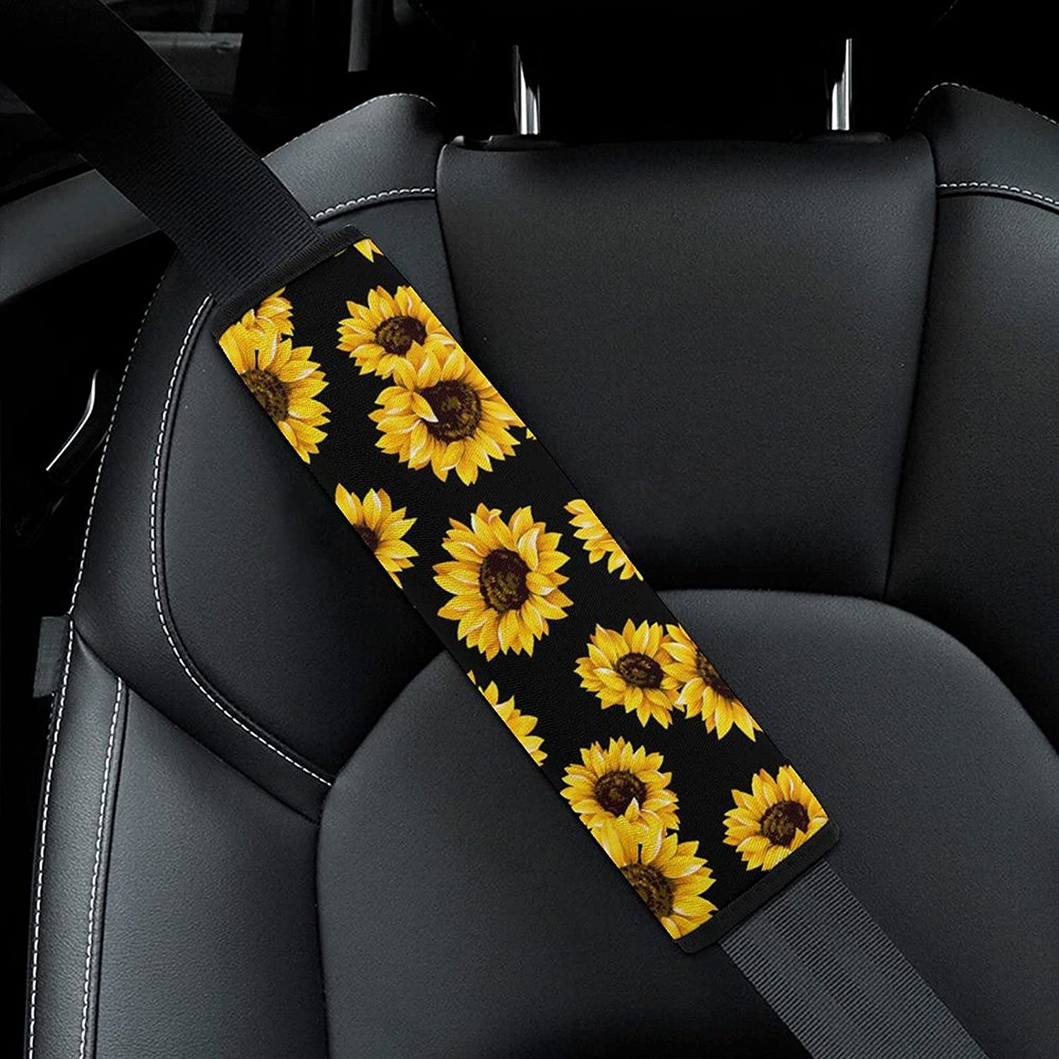 Oil New life Painting Sunflower Flowers Pattern with Car Black Large special price Se