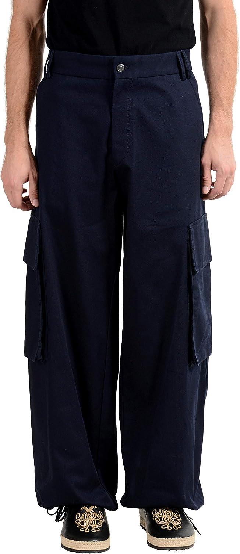 Hugo Boss Fath182FS Men's Navy Blue Cargo Casual Pants US 32 IT 48